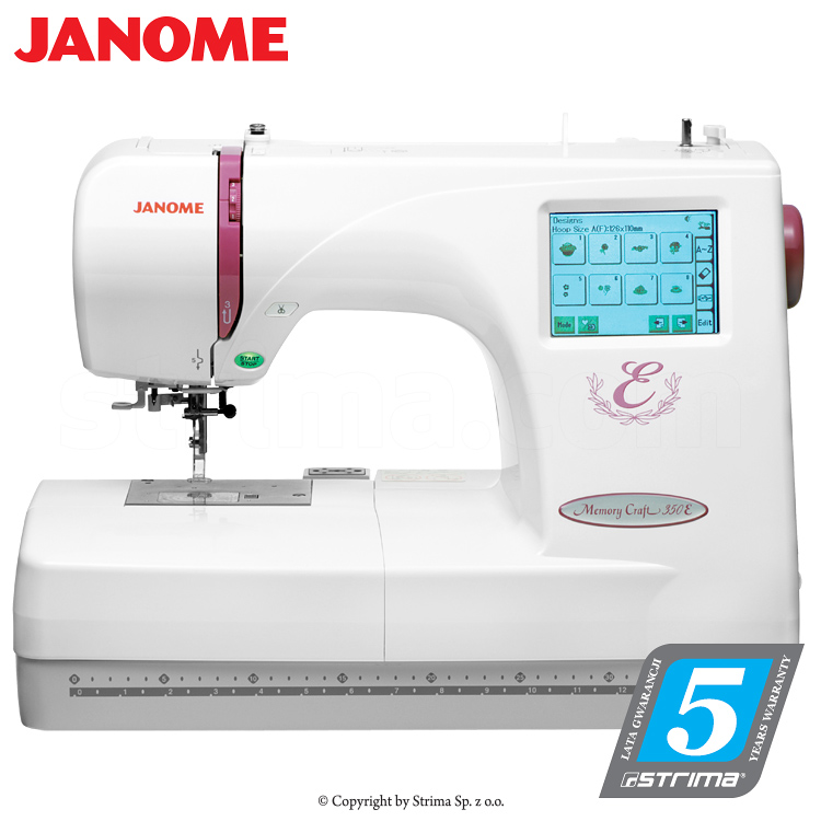 Janome memory craft 350e hafciarka komputerowa for Janome memory craft 200e