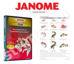 Kolekcja haftów Janome, vol. 3 - ryby - JANOME EMBROIDERY COLLECTION - FISH